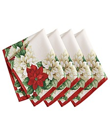 Red and White Poinsettias Napkin, Set of 4