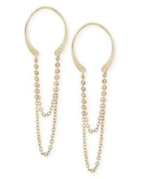 Horseshoe Chain Drop Earrings Set in 14k Gold