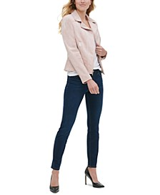 Moto Jacket, V-Neck Top & Sloane Pants