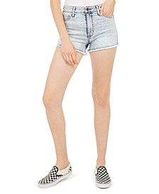Juniors' Frayed Hem Denim Shorts