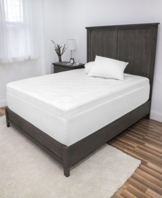 Euro Majestic 3-Inch Quilted Memory Foam Mattress Topper - Full
