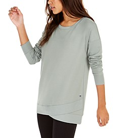 French Terry Tulip-Hem Top, Created For Macy's