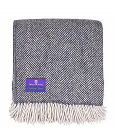 Highland Tweed Herringbone Pure New Wool Throw
