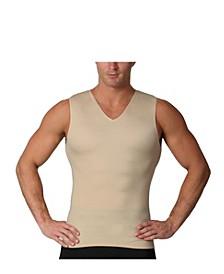 Insta Slim Men's Compression Sleeveless V-Neck T-Shirt
