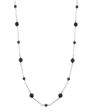 Faceted Long Link Necklace