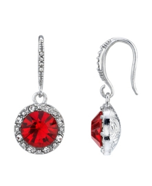 Round Crystal with Clear Crystal Accents Earring
