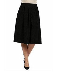 Women Classic Black Knee Length Skirt