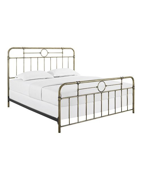 Walker Edison Metal Pipe Bed, King