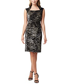 Animal Velvet Sheath Dress