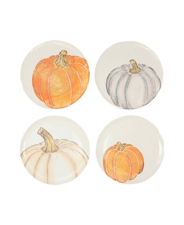 VIETRI - Vietri Pumpkins Assorted Salad Plates - Set of 4