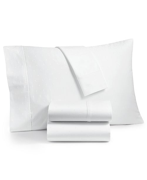 AQ Textiles Bergen House Woven Diamond Dot 4-Pc. Queen Sheet Set, 1000-Thread Count 100% Certified Egyptian Cotton
