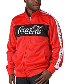Men's Coca-Cola Pieced Colorblocked Logo Tape Track Jacket