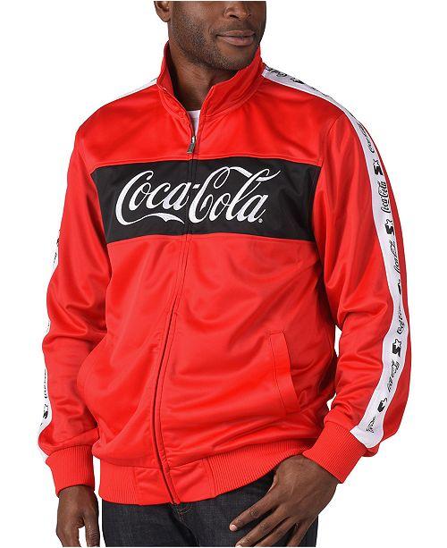 Starter Men's Coca-Cola Pieced Colorblocked Logo Tape Track Jacket