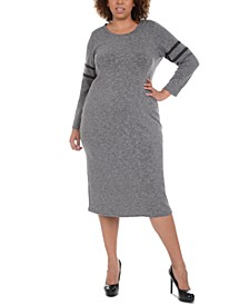 Plus Size Long-Sleeve Dress