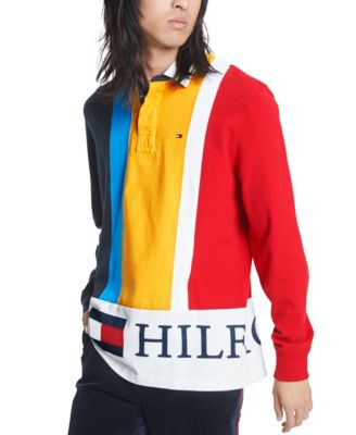 Tommy Hilfiger Mens Logo Rugby Polo Shirt