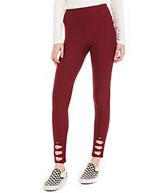Juniors' Lattice-Cutout Leggings