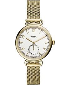 Women's Josey Gold-Tone Stainless Steel Mesh Bracelet Watch 34mm