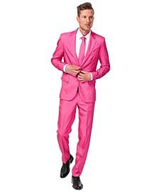 Men's Solid Pink Color Suit