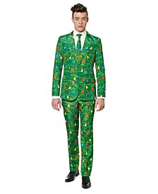 Men's Christmas Green Tree Christmas Suit