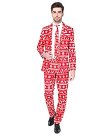 Men's Christmas Red Nordic Christmas Suit