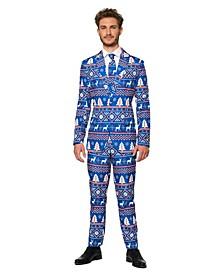 Men's Christmas Blue Nordic Christmas Suit