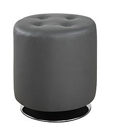 Covina Round Upholstered Ottoman