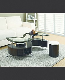 Shelton Coffee Table And Upholstered Stools