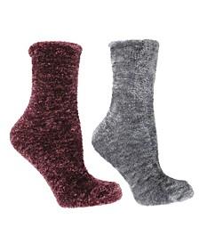 Women's Lavender Infused Slipper Socks, 2-Pair Pack