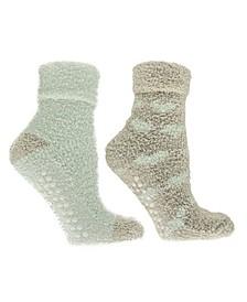 Women's Hearts Lavender Infused Slipper Socks, 2-Pair Pack