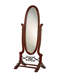 Cairo Oval Cheval Mirror Brown