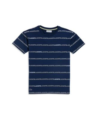 Toddler, Little and Big Boys Crew Neck Printed Stripe Cotton T Shirt