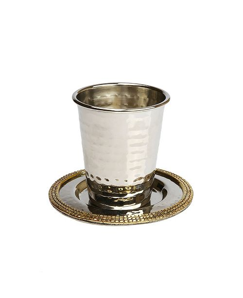 Classic Touch Kiddush Cup with Mosaic Design