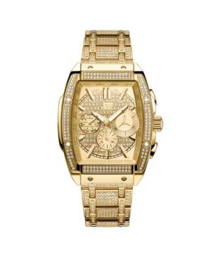 Men's Echelon Platinum Series Diamond (3 ct. t.w.) 18K Gold-Plated Stainless Steel Watch