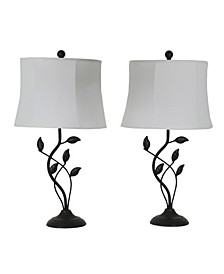 Decor Therapy Leaf Table Lamps Set of 2