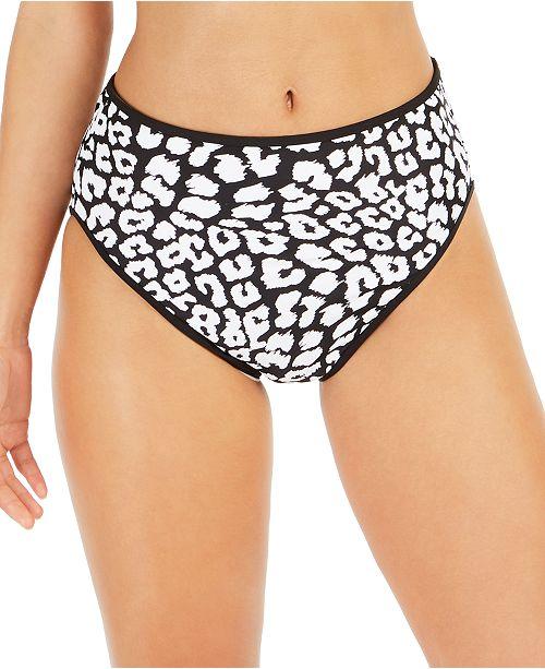 Calvin Klein Bound Printed High-Waist Bikini Bottoms