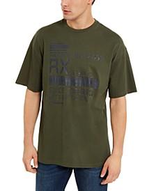 Men's Digital Alarm Clock Logo Graphic T-Shirt