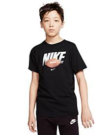 Big Boys Cotton Football T-Shirt