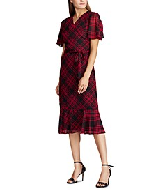 Petite Plaid Georgette Dress