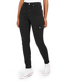 High-Rise Skinny Cargo Jeans