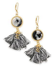 INC Gold-Tone Tortoise-Look Multi-Tassel Drop Earrings, Created for Macy's