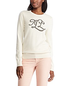 Beaded Logo Sweater