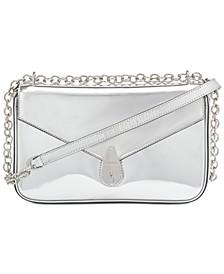 Lock Metallic Shoulder Bag