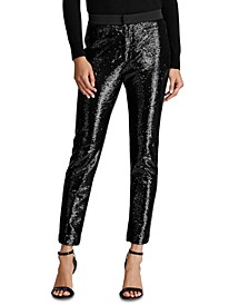Sequined Cropped Pants