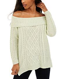 No Comment Juniors' Off-The-Shoulder Sweater