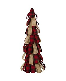 "16.93""H Plaid Burlap Table Tree"