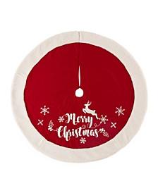 """48"""" D Merry Christmas Tree Skirt"""