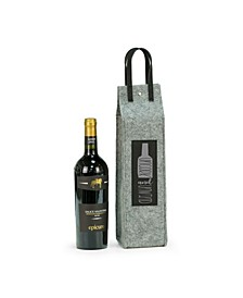 Uncork Unwind Felt Wine Tote with Accents