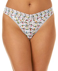 Women's One Size Original Rise Twinkle Lace Thong 6D1186