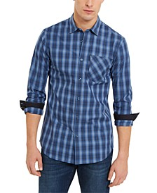 Men's Slim-Fit Stretch Plaid Shirt