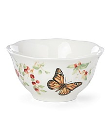 Butterfly Meadow Red Monarch Rice Bowl, Created for Macy's